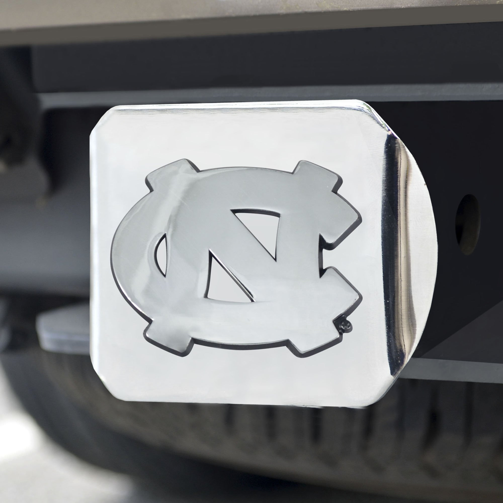 North Carolina Tar Heels Chrome Hitch Cover 3.4