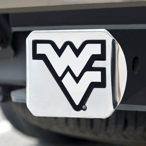 West Virginia Moutaineers Chrome Hitch Cover 3.4