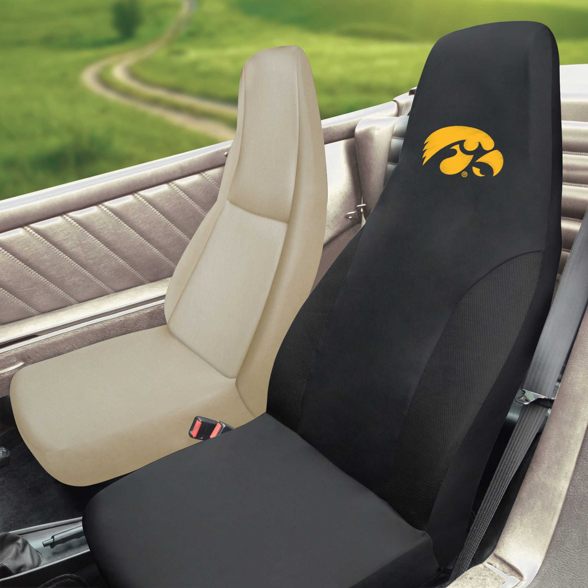 University of Iowa Set of 2 Car Seat Covers