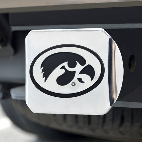 University of Iowa Chrome Hitch Cover- Chrome 3.4