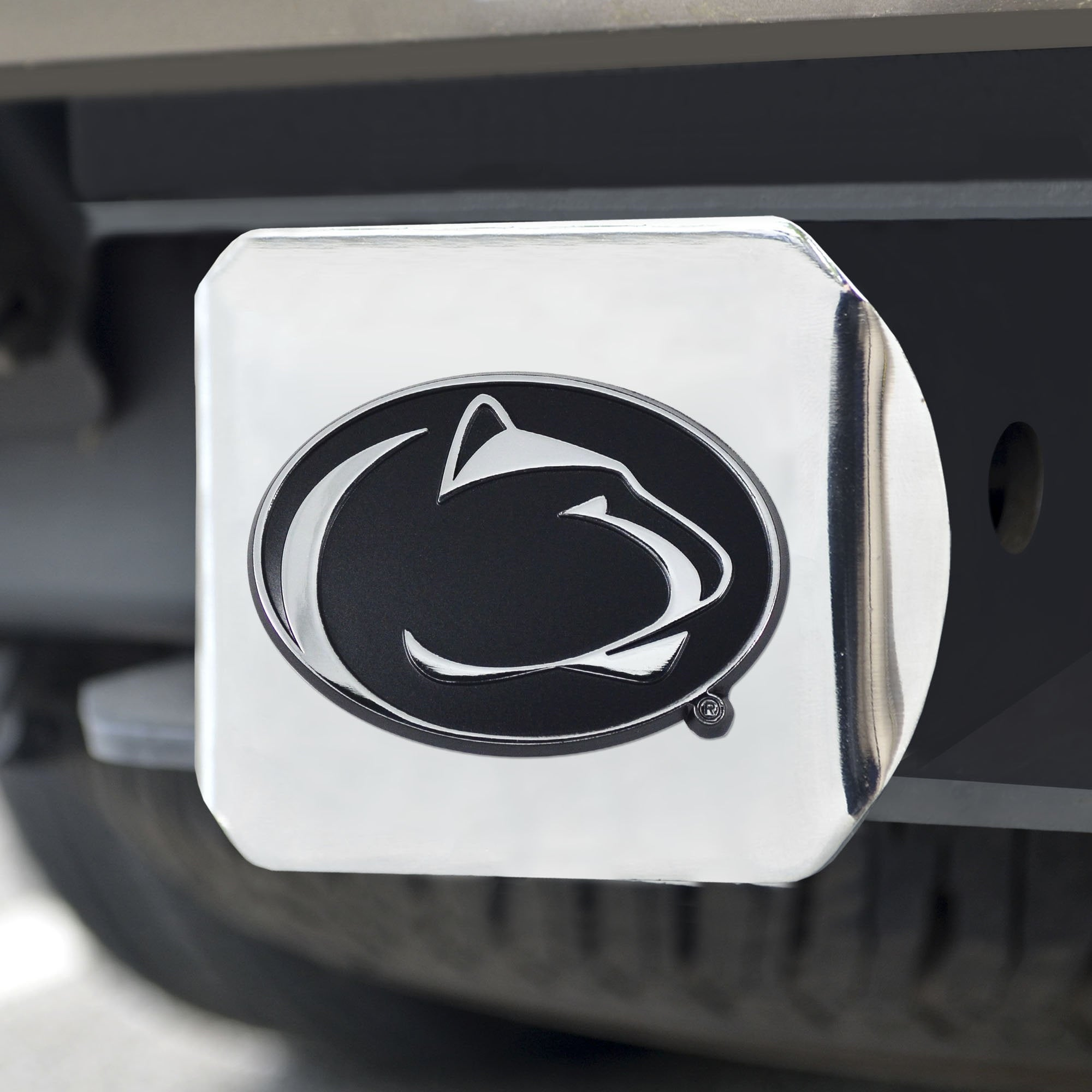 Penn State Nittany Lions Chrome Hitch Cover 3.4