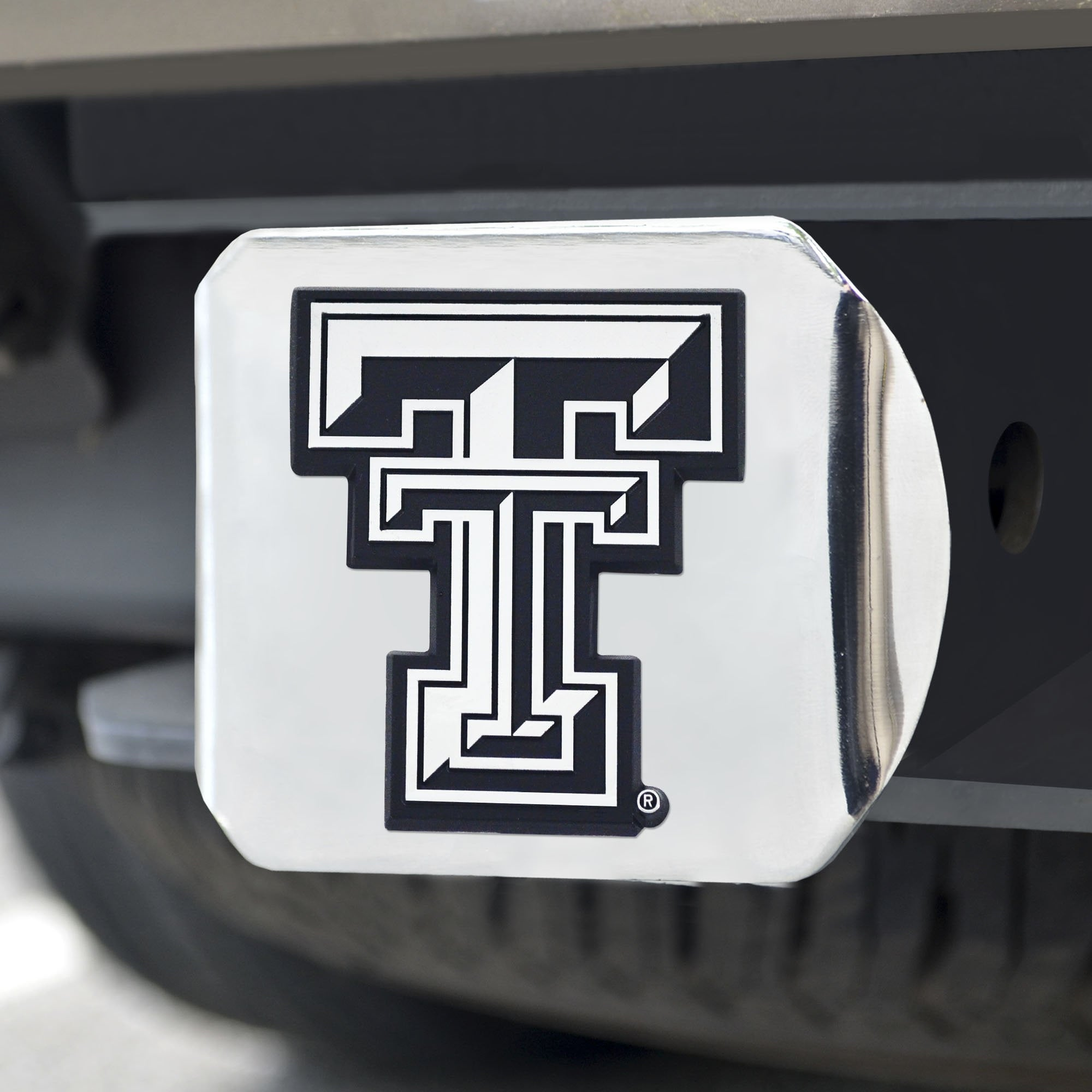 Texas Tech Red Raiders Chrome Hitch Cover 3.4