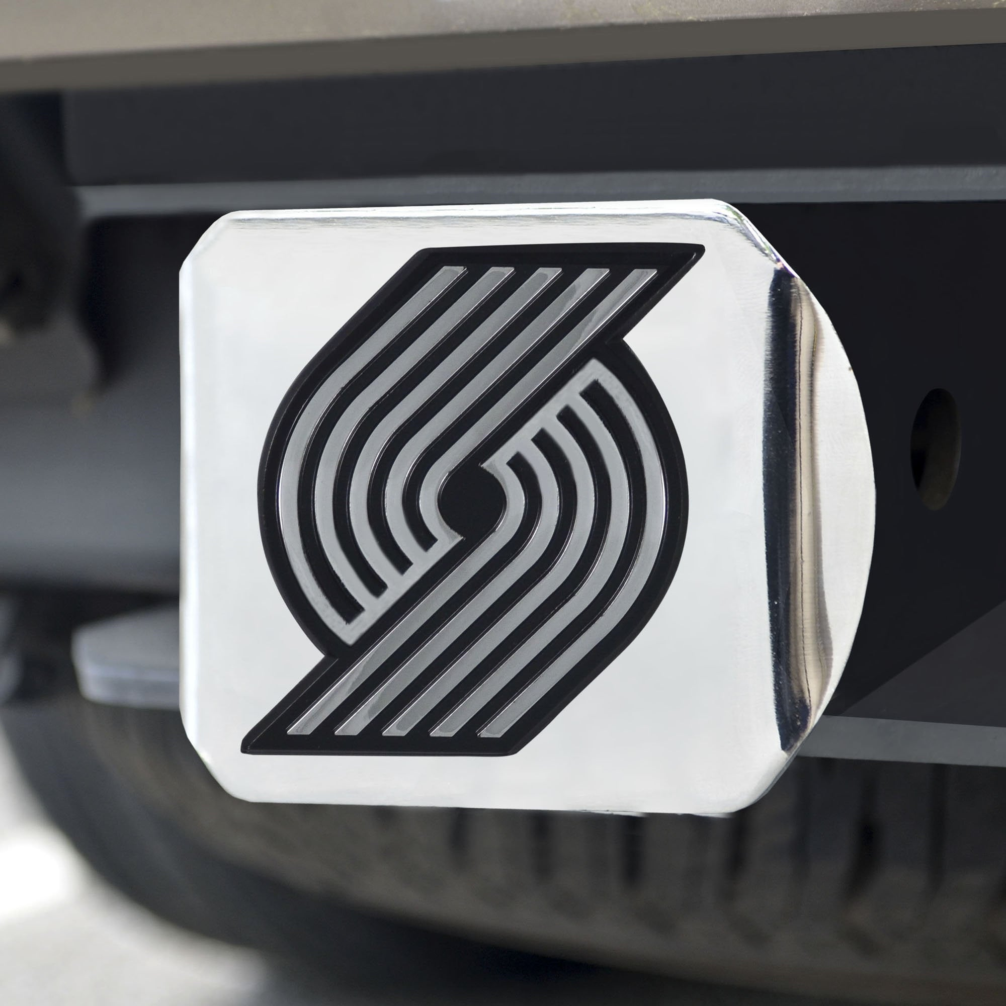 Portland Trail Blazers Chrome Hitch Cover 3.4
