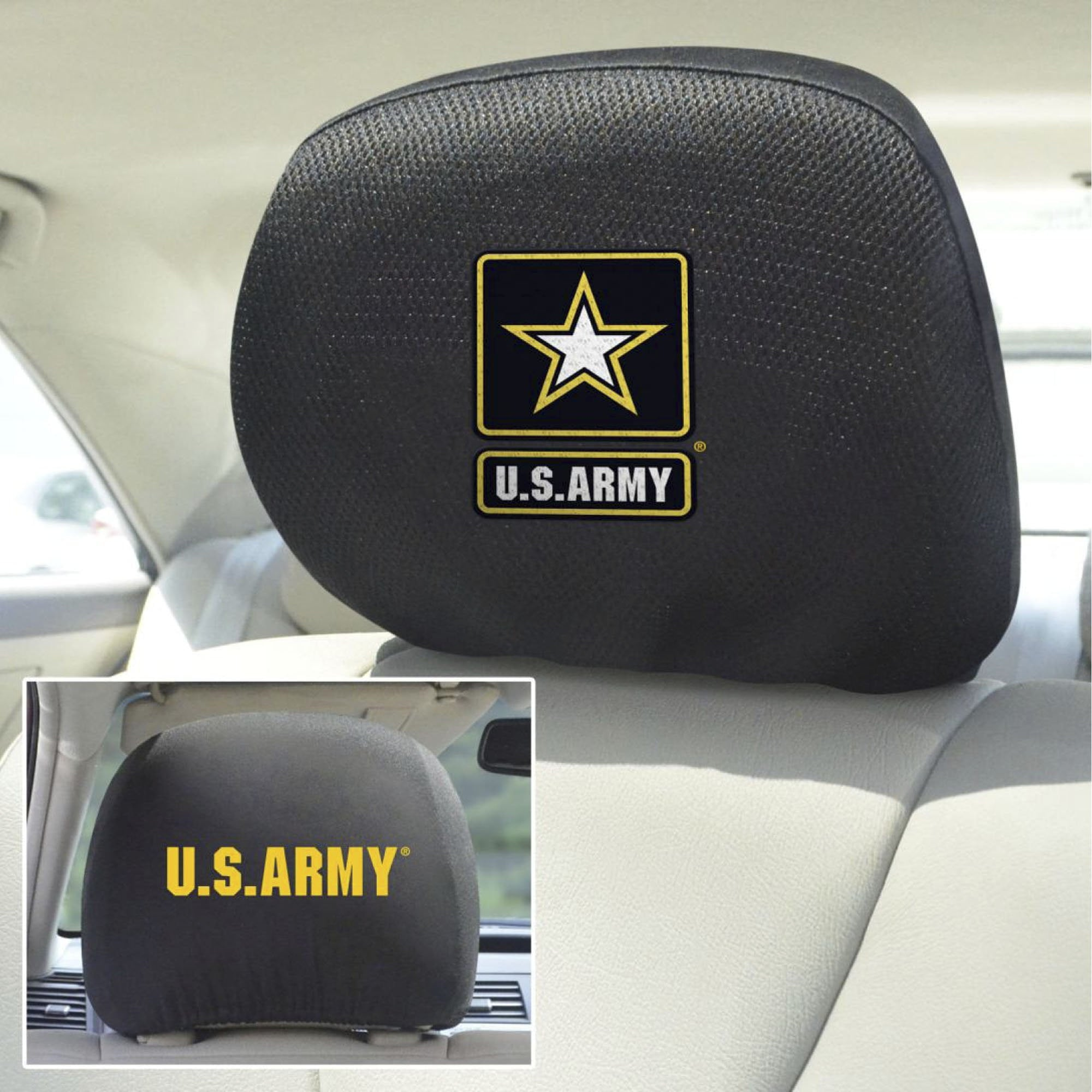 U.S. Army Set of 2 Headrest Covers