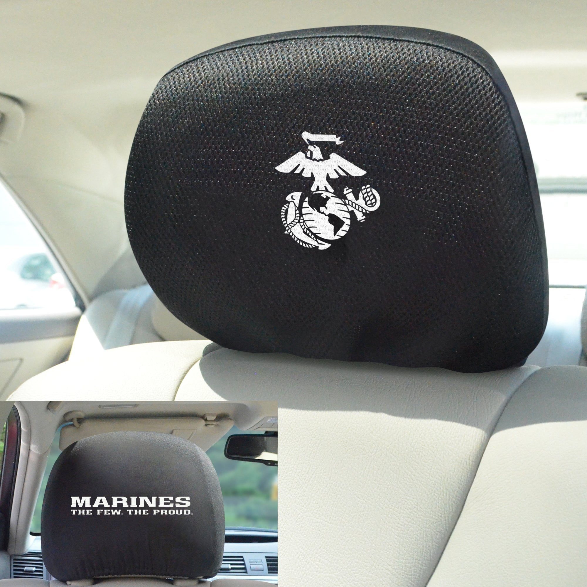 U.S. Marines Set of Set of 2 Headrest Covers