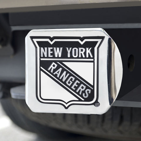 New York Rangers Chrome Hitch Cover 3.4