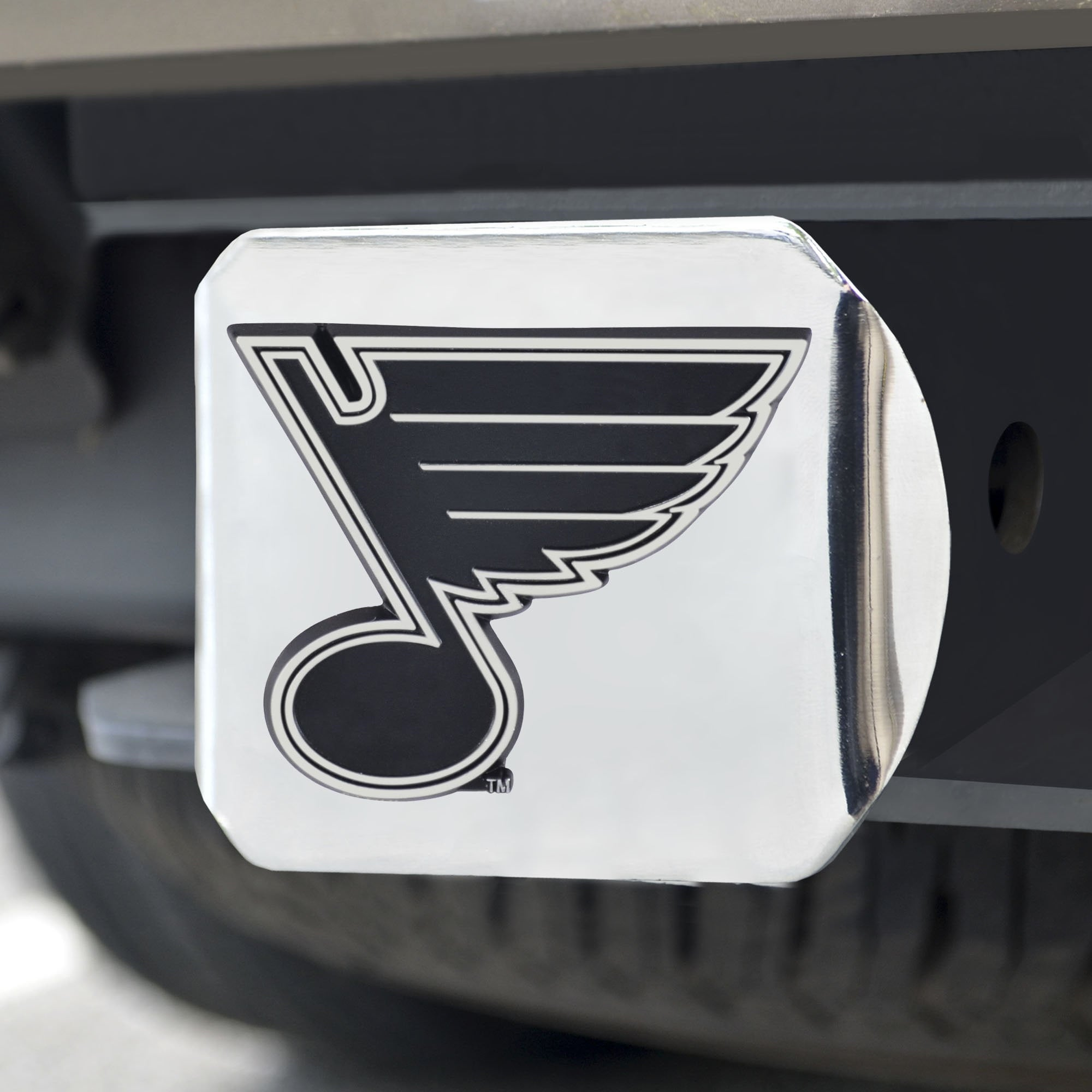 St. Louis Blues Chrome Hitch Cover 3.4