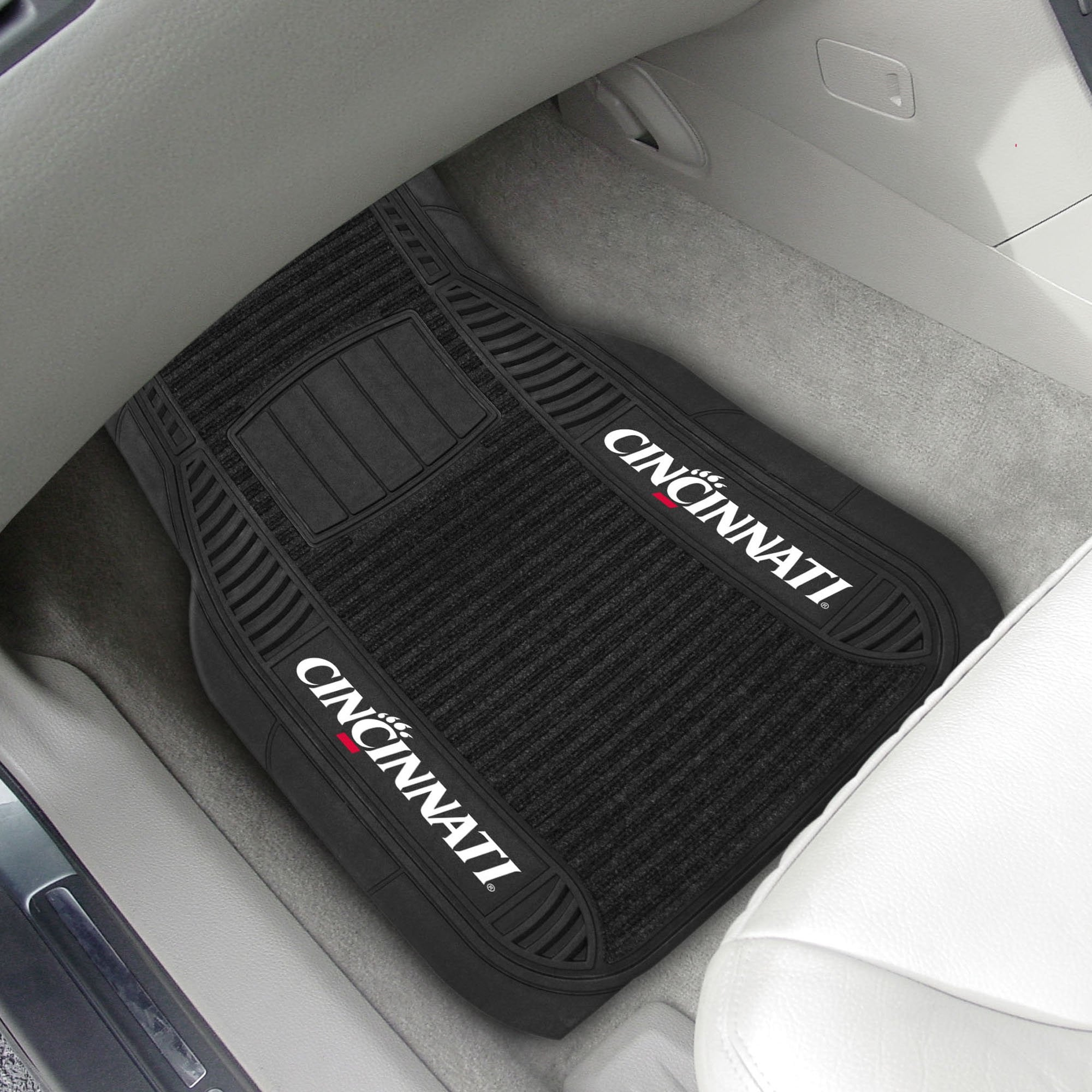 Cincinnati Bearcats 2-pc Front (Vinyl/Carpet) Car Mat Set 21
