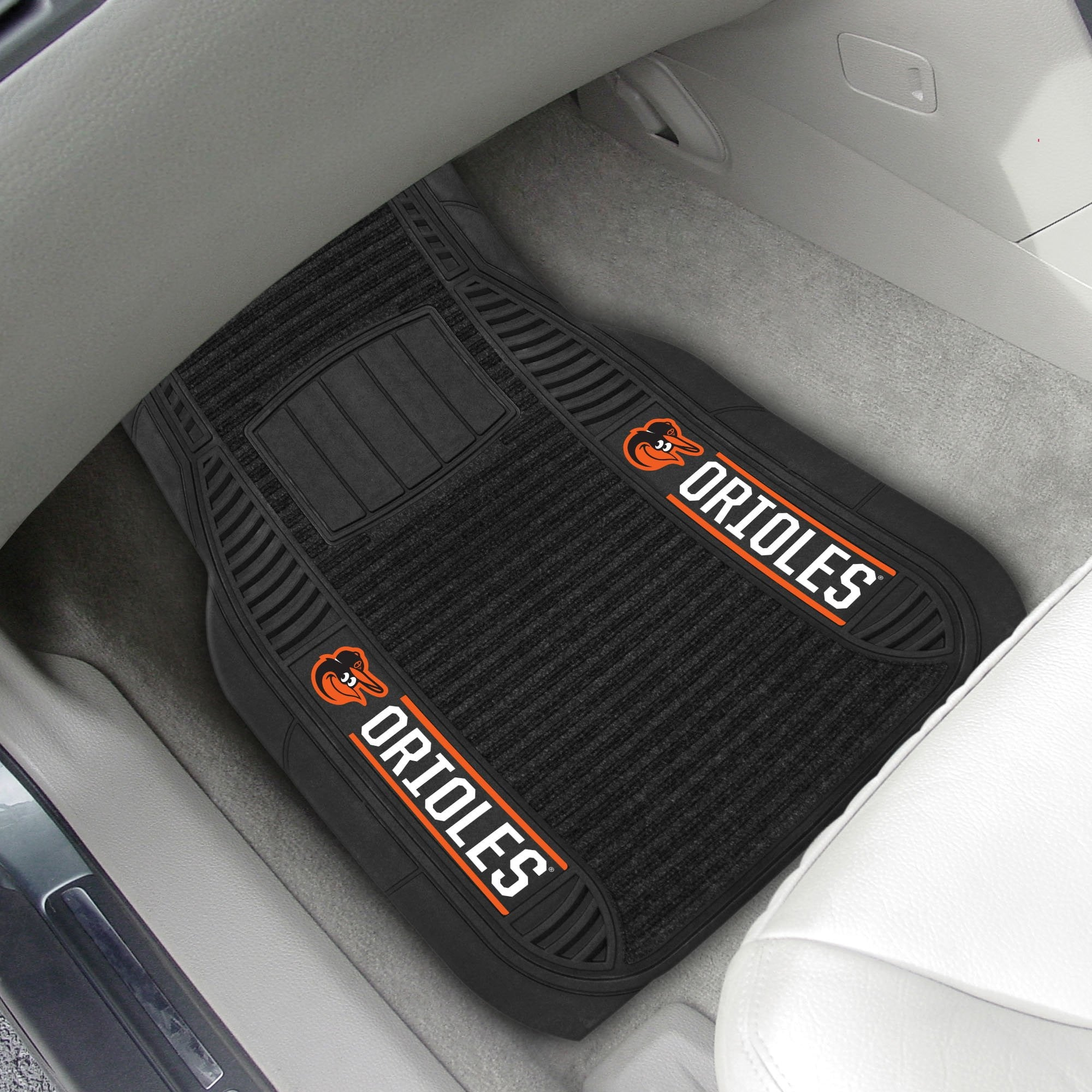 Baltimore Orioles 2-pc Front (Vinyl/Carpet) Car Mat Set 21