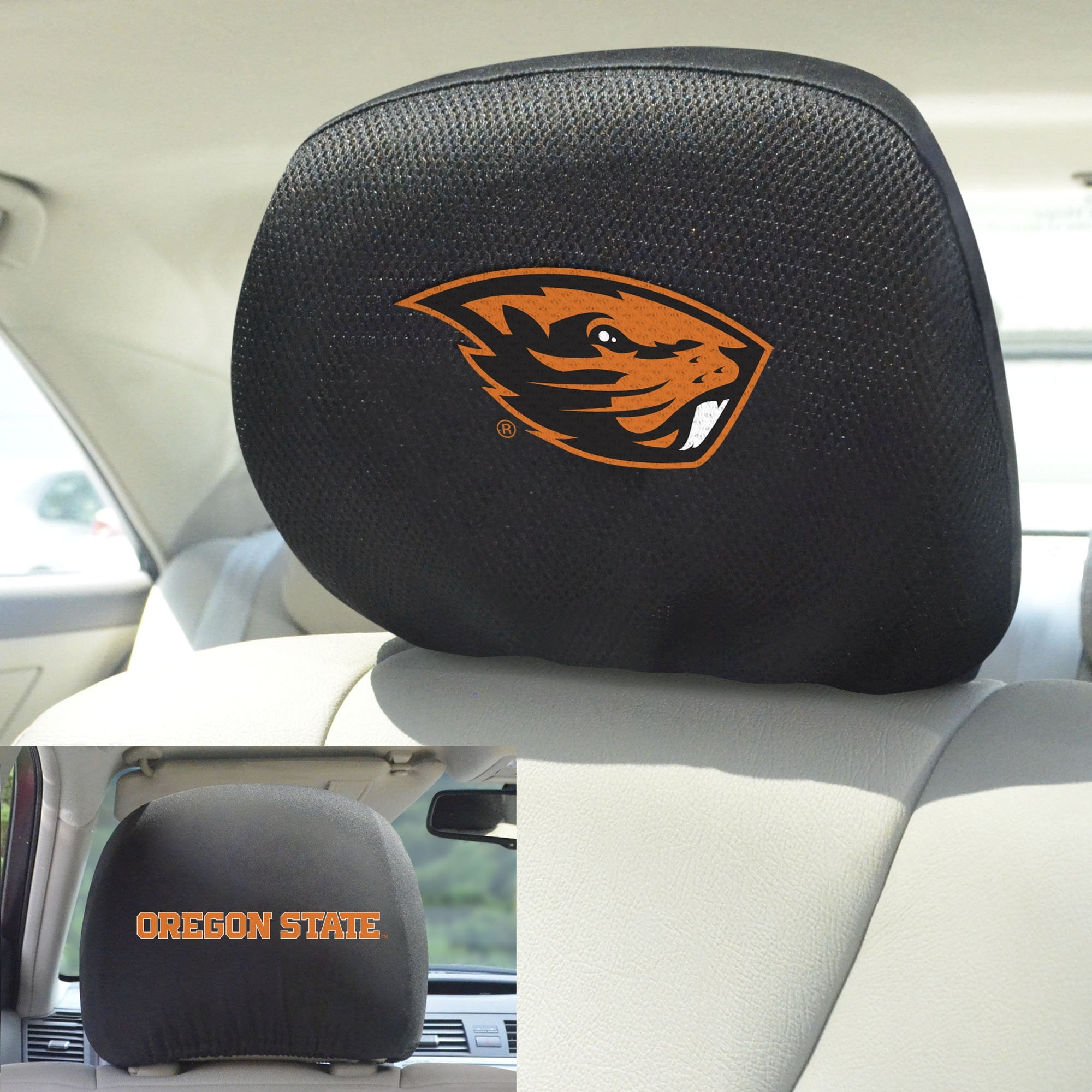 Oregon State University Set of 2 Headrest Covers