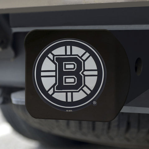 Boston Bruins Chrome Hitch Cover - Black 3.4