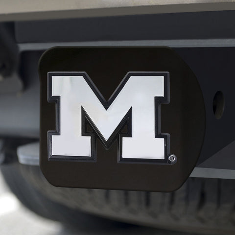 Michigan Wolverines Chrome Hitch Cover - Black 3.4