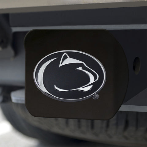 Penn State Nittany Lions Chrome Hitch Cover - Black 3.4