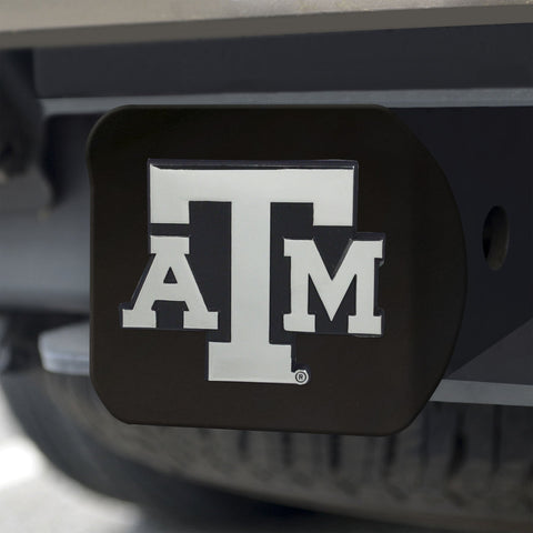 Texas A&M Aggies Chrome Hitch Cover - Black 3.4
