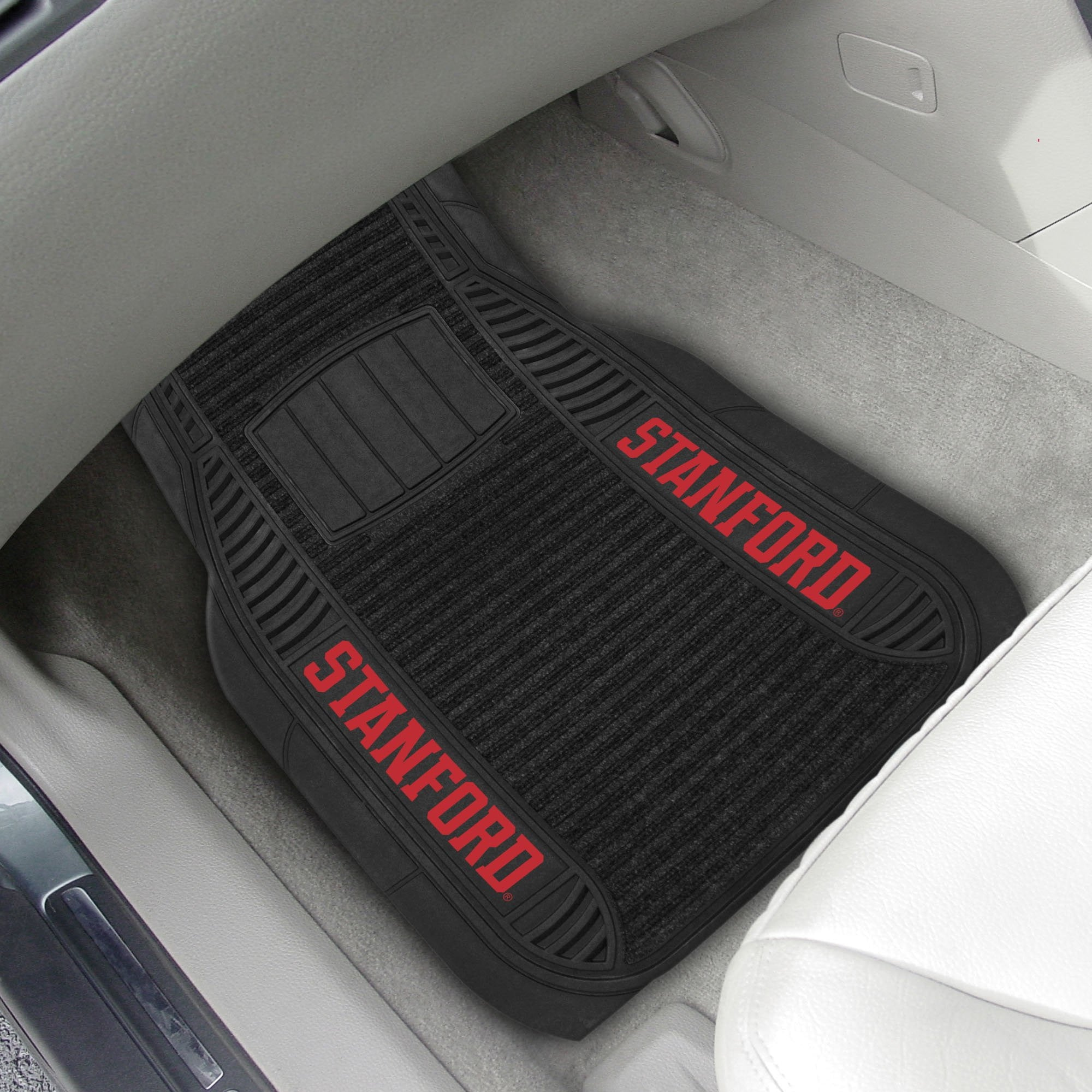 Stanford Cardinal 2-pc Front (Vinyl/Carpet) Car Mat Set 21