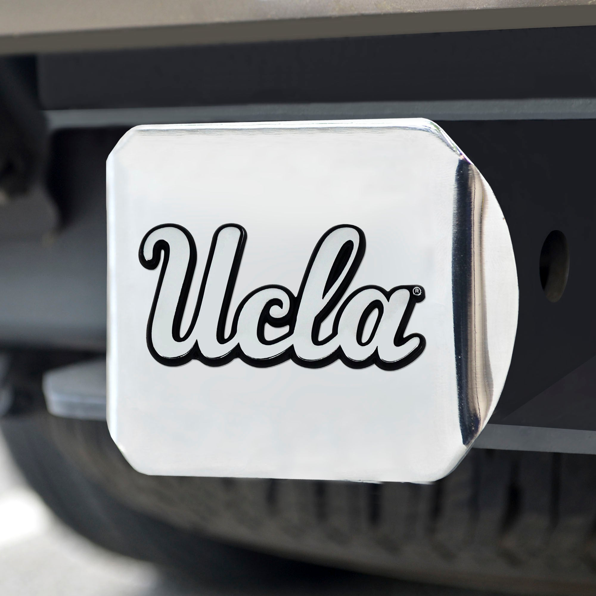 University of California - Los Angeles (UCLA) Chrome Hitch Cover- Chrome 3.4
