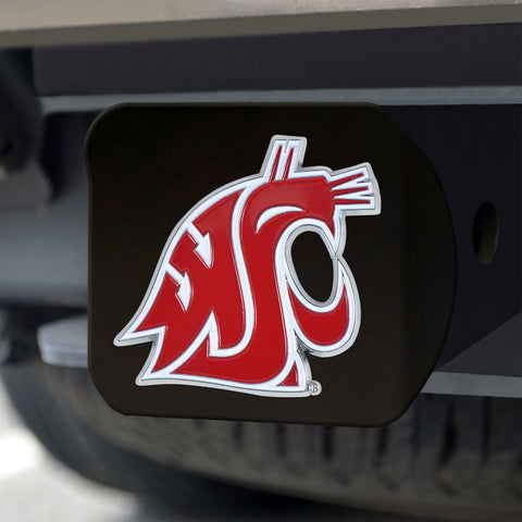 Washington State Cougars Color Hitch Cover - Black 3.4