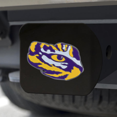 LSU Tigers Color Hitch Cover - Black 3.4