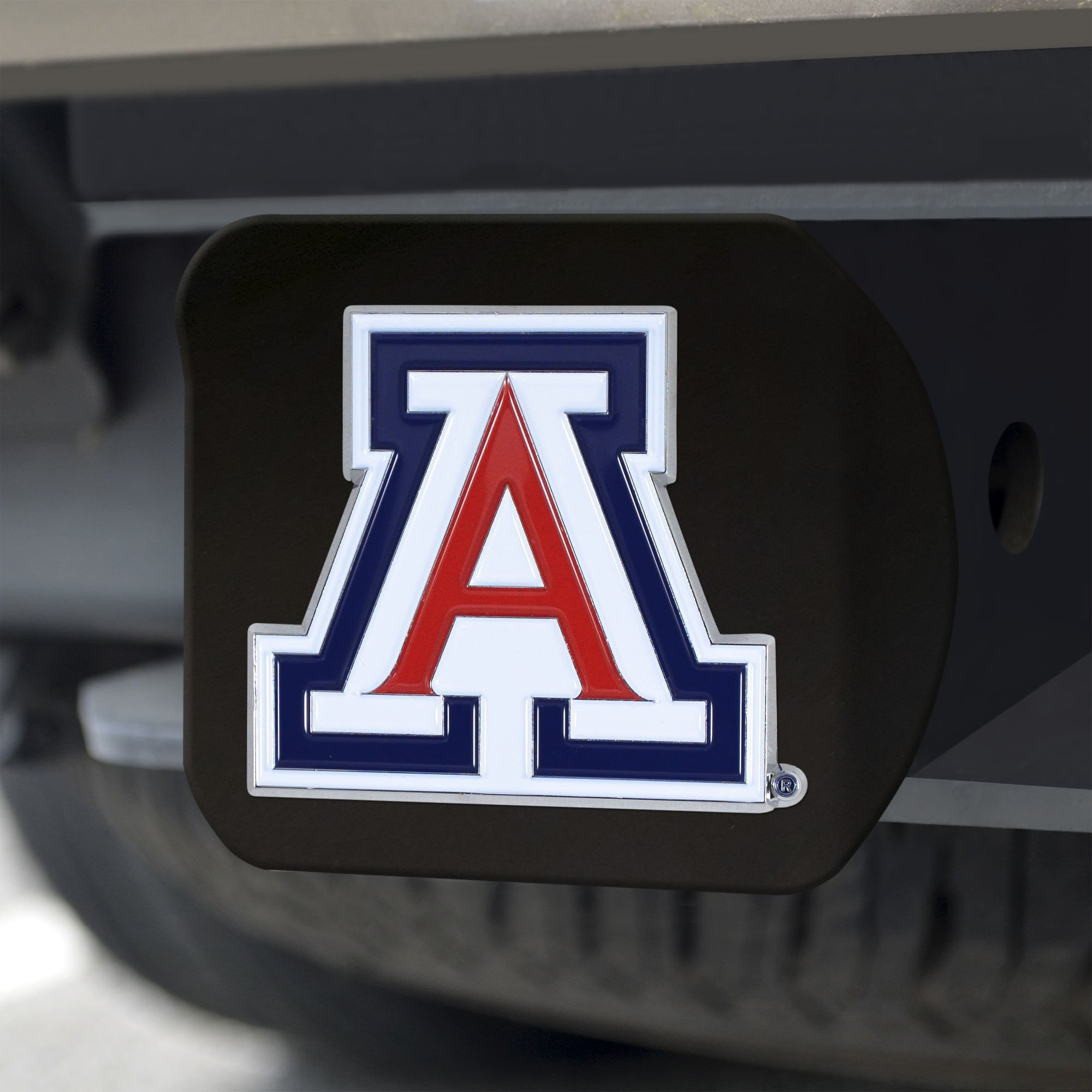 Arizona Wildcats Color Hitch Cover - Black 3.4