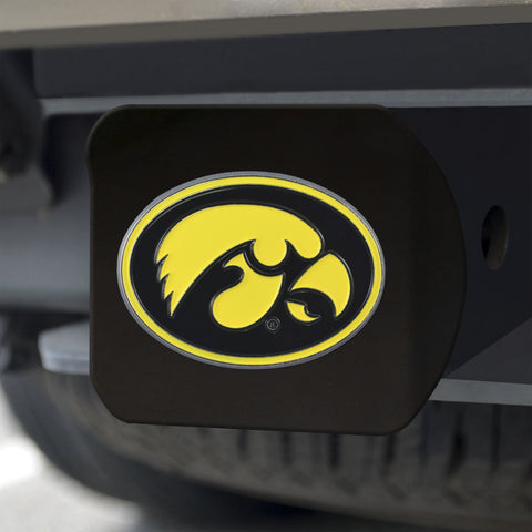 Iowa Hawkeyes Color Hitch Cover - Black 3.4