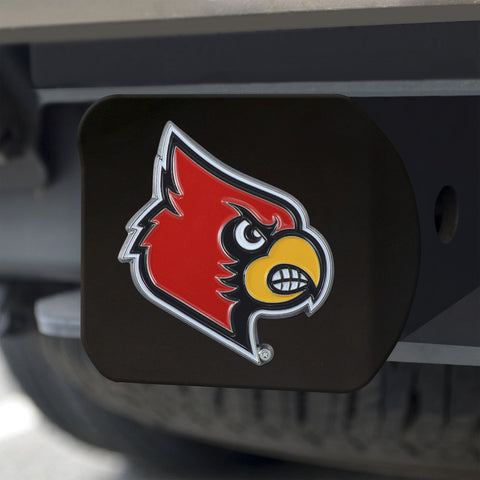 Louisville Cardinals Color Hitch Cover - Black 3.4