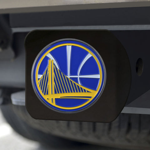 Golden State Warriors Color Hitch Cover - Black 3.4