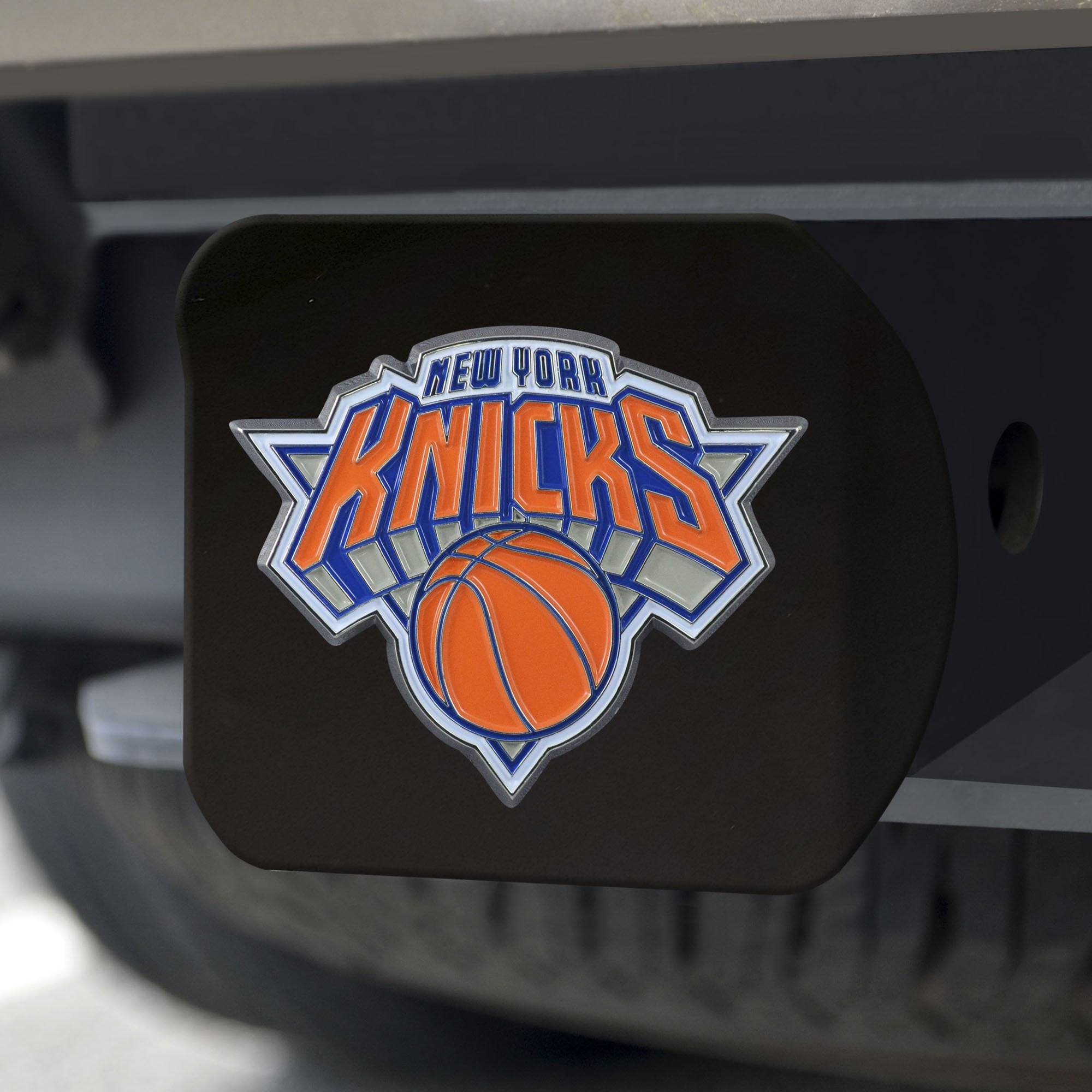 New York Knicks Color Hitch Cover - Black 3.4