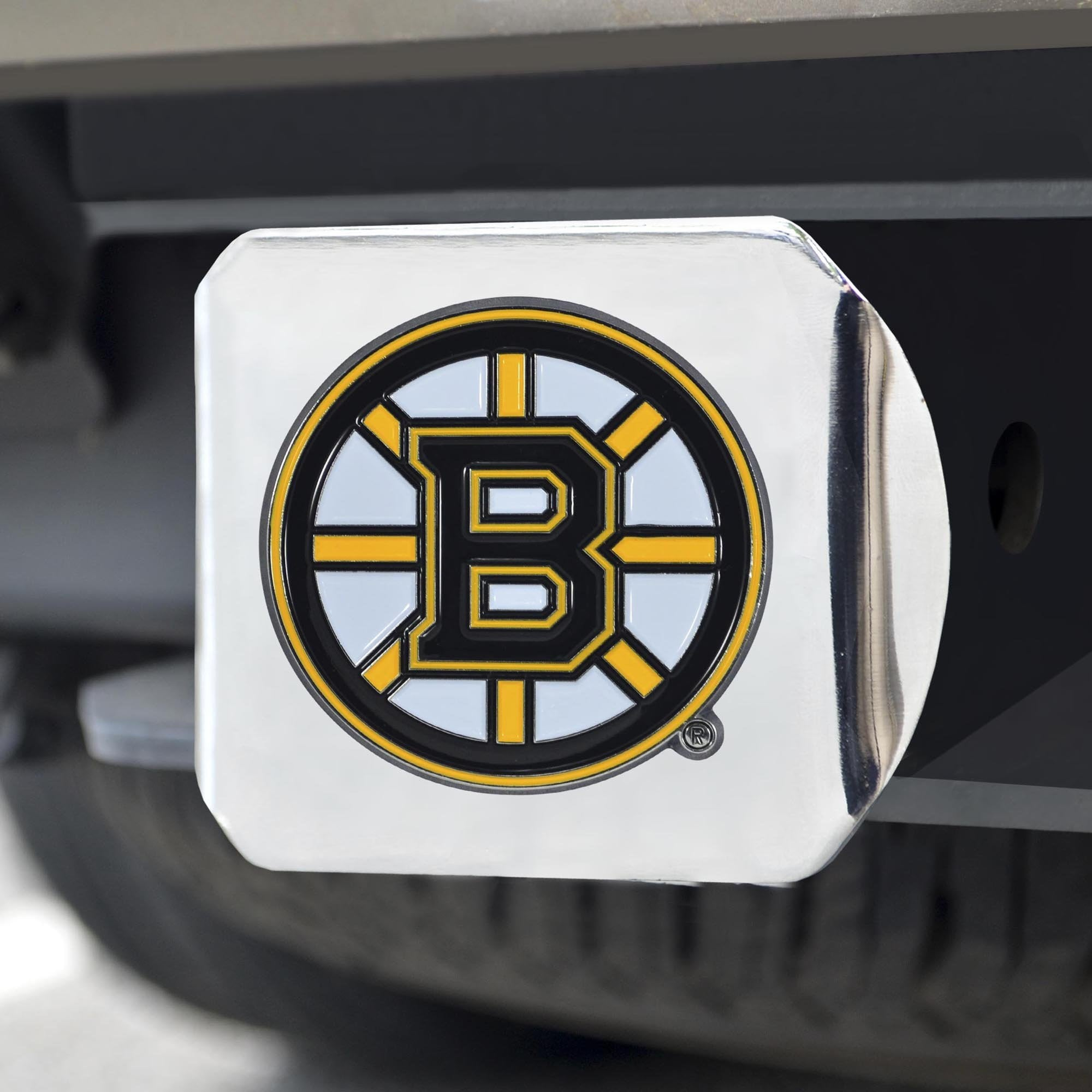 Boston Bruins Color Hitch Cover 3.4