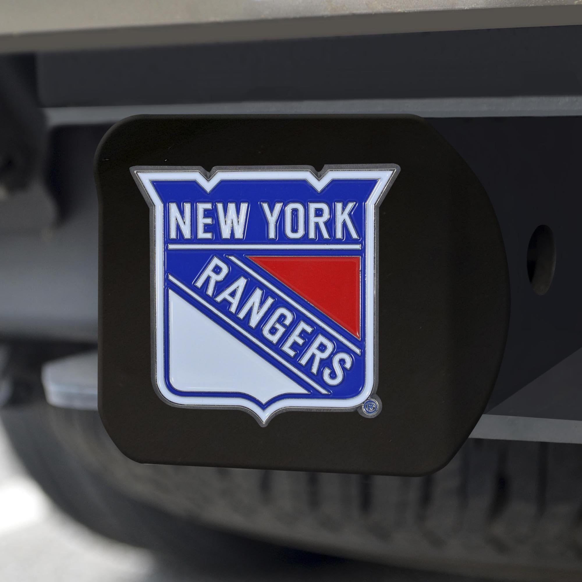 New York Rangers Color Hitch Cover - Black 3.4
