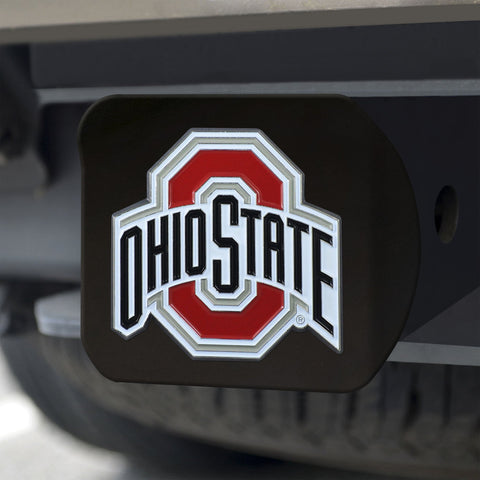 Ohio State Buckeyes Color Hitch Cover - Black 3.4