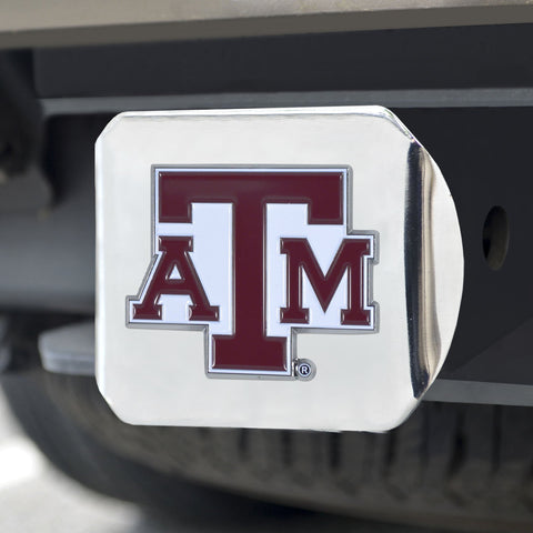 Texas A&M Aggies Color Hitch Cover 3.4