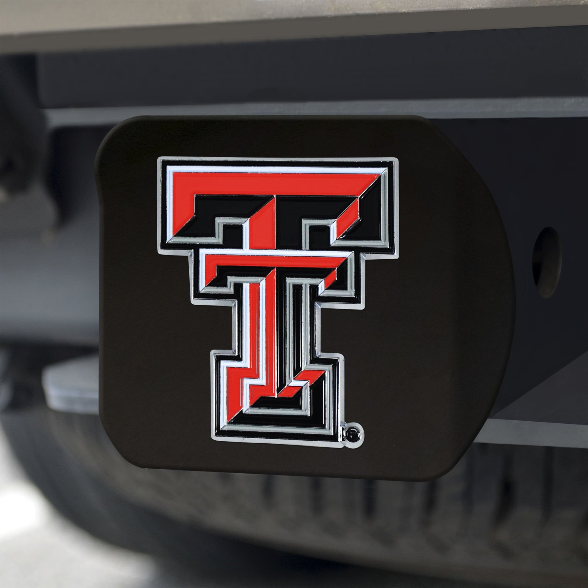 Texas Tech Red Raiders Color Hitch Cover - Black 3.4