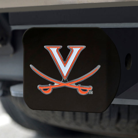 Virginia Cavaliers Color Hitch Cover - Black 3.4
