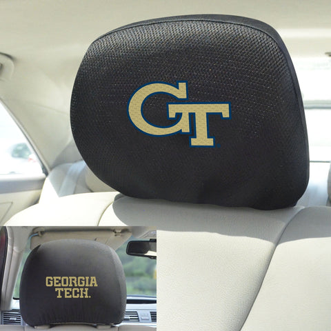 Georgia Tech Set of 2 Headrest Covers