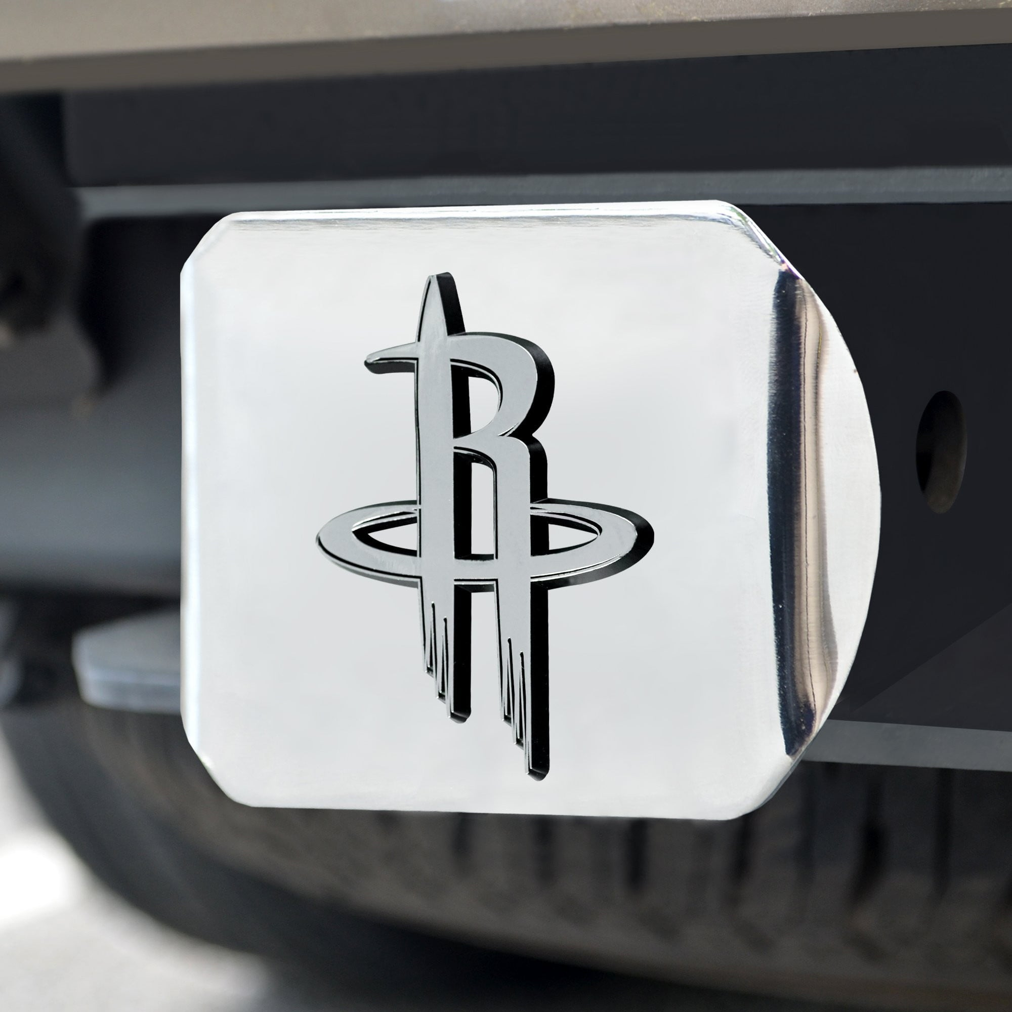Houston Rockets Chrome Hitch Cover 3.4