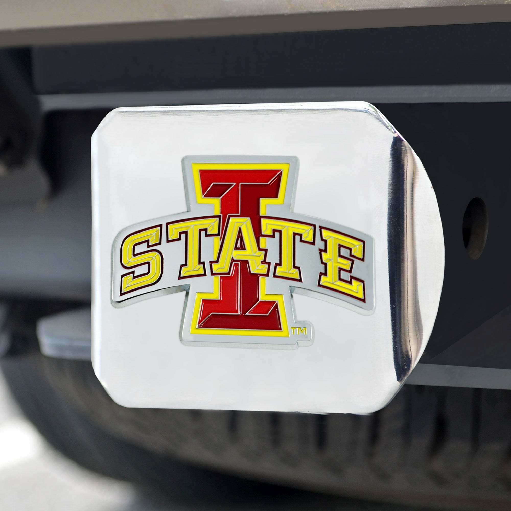 Iowa State Cyclones Color Hitch Cover 3.4
