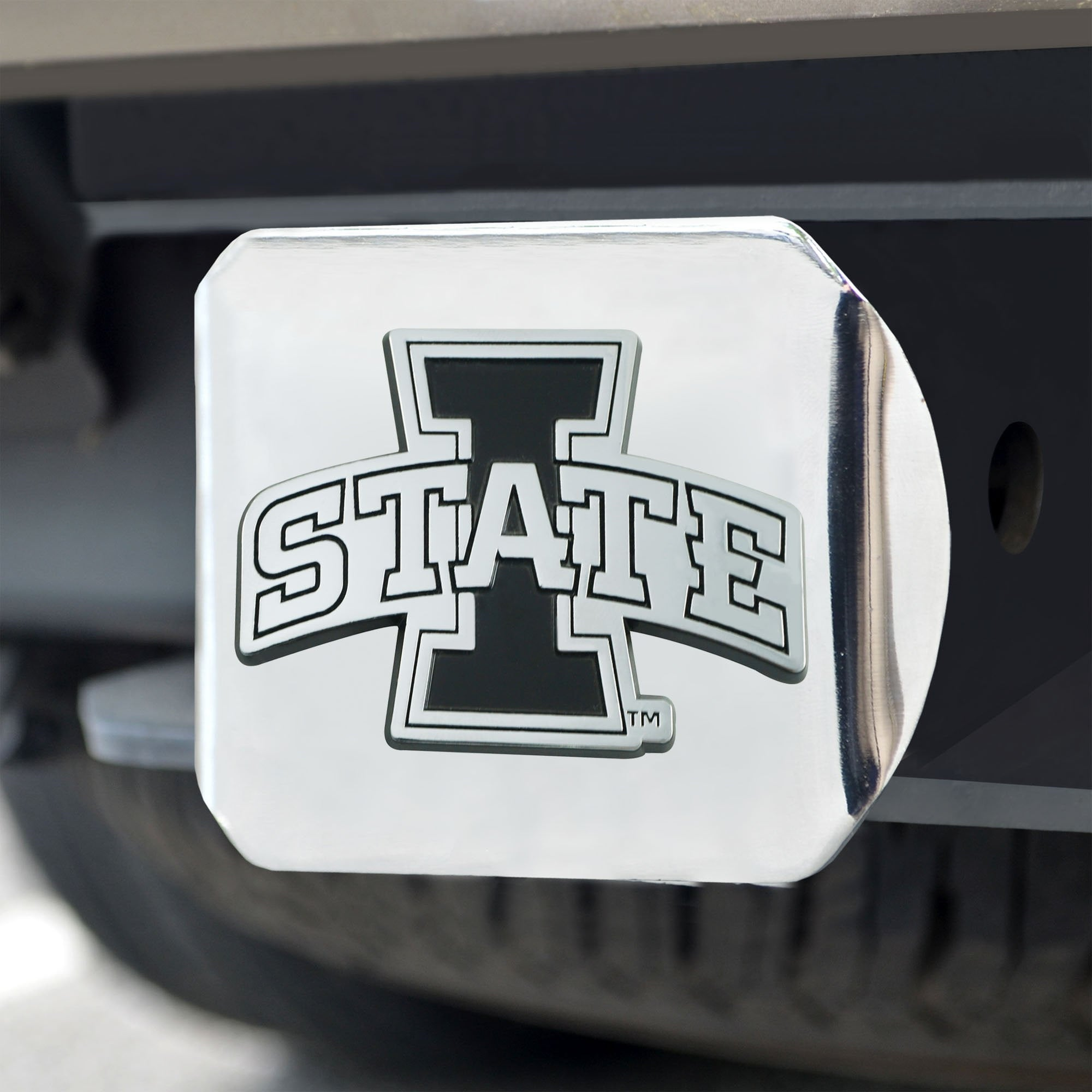 Iowa State Cyclones Chrome Hitch Cover 3.4