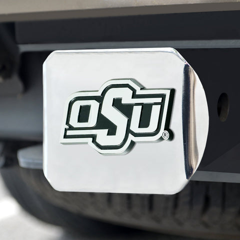 Oklahoma State Cowboys Chrome Hitch Cover- Chrome 3.4