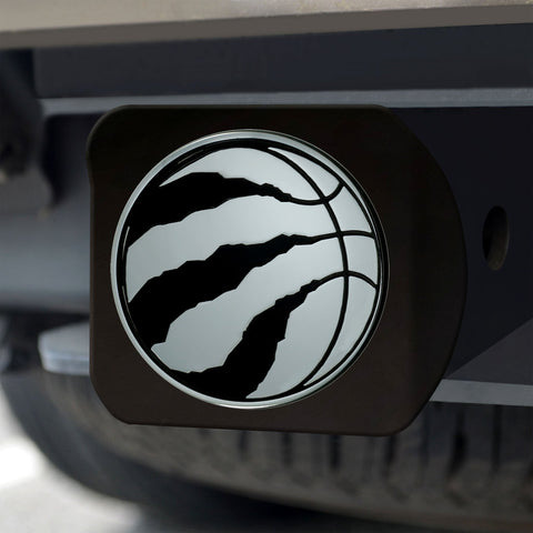 Toronto Raptors Chrome Hitch Cover - Black 3.4