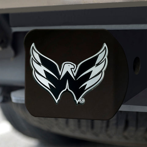Washington Capitals Chrome Hitch Cover - Black 3.4