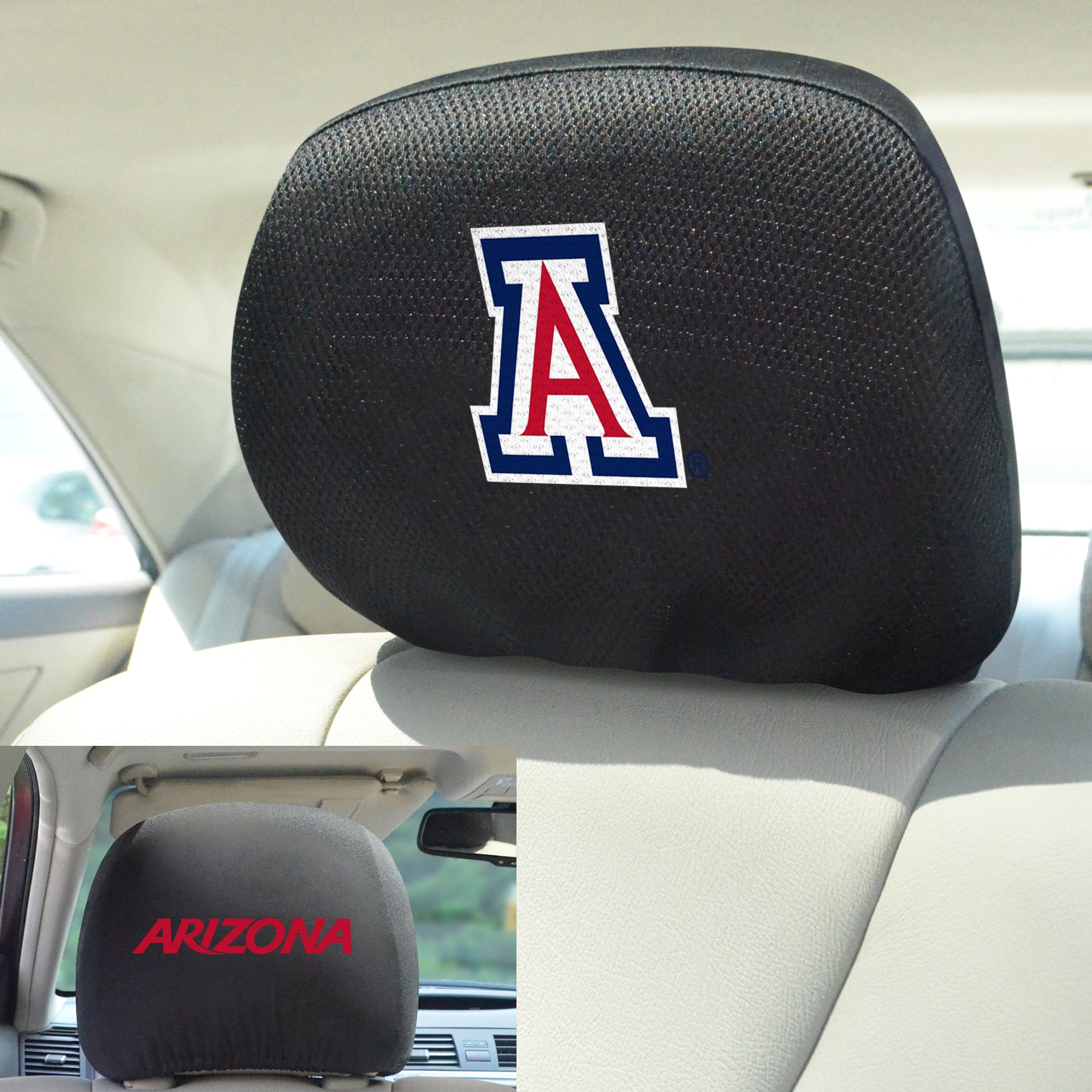 University of Arizona Set of 2 Headrest Covers
