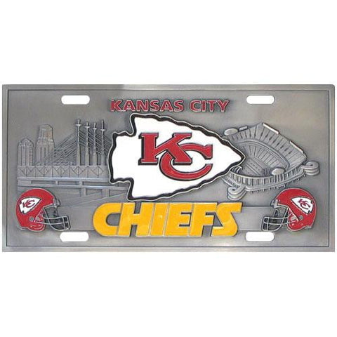 Kansas City Chiefs Collector's License Plate