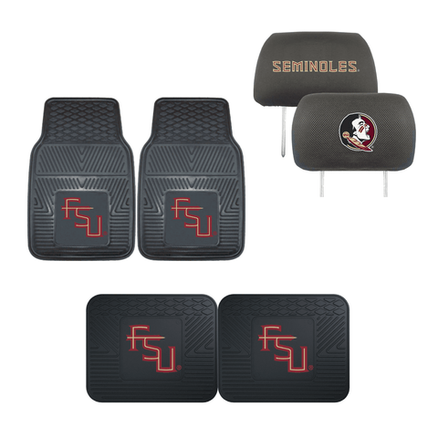 Florida State University Seminoles  4pc Car Mats,Headrest Covers & Car Accessories