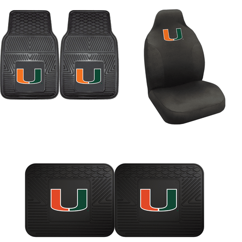 Miami Hurricanes Car Accessories, Car Mats & Seat Covers