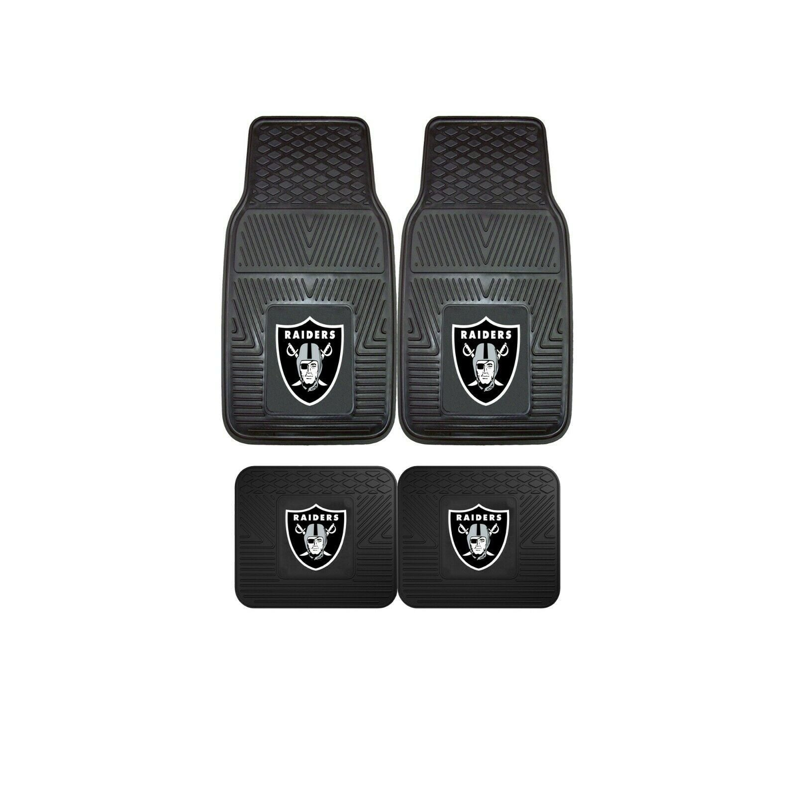 Las Vegas Raiders NFL 4pc Car Mats