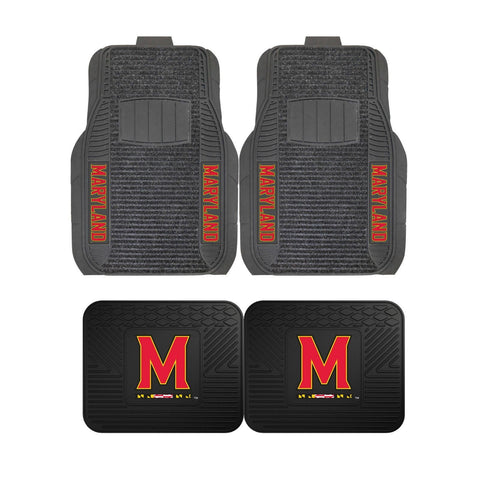 Maryland Terrapins Front (Vinyl/Carpet) & Rear (Vinyl) Car Floor Mats
