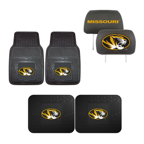 University of Missouri Tigers  4pc Car Mats,Headrest Covers & Car Accessories