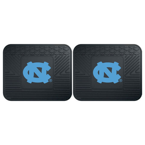North Carolina Tar Heels Front (Vinyl/Carpet) & Rear (Vinyl) Car Floor Mats