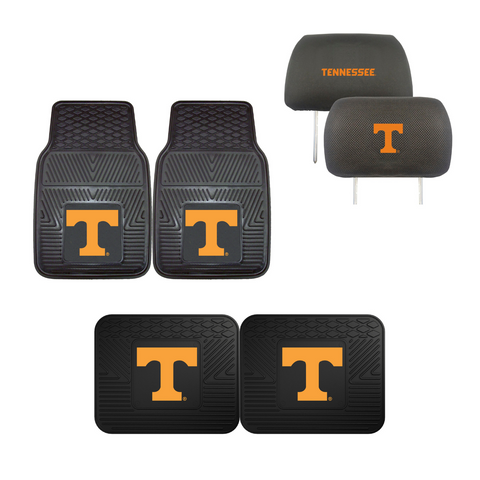University of Tennessee 4pc Car Mats,Headrest Covers & Car Accessories