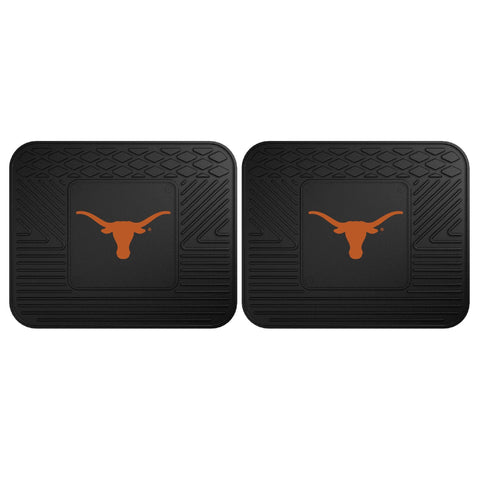Texas Longhorns Front (Vinyl/Carpet) & Rear (Vinyl) Car Floor Mats